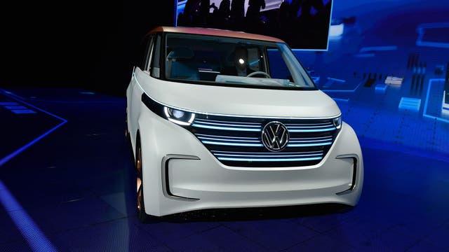 El Volkswagen BUDD-e es como la compañía reimagina a la vieja Combi. Foto: AFP