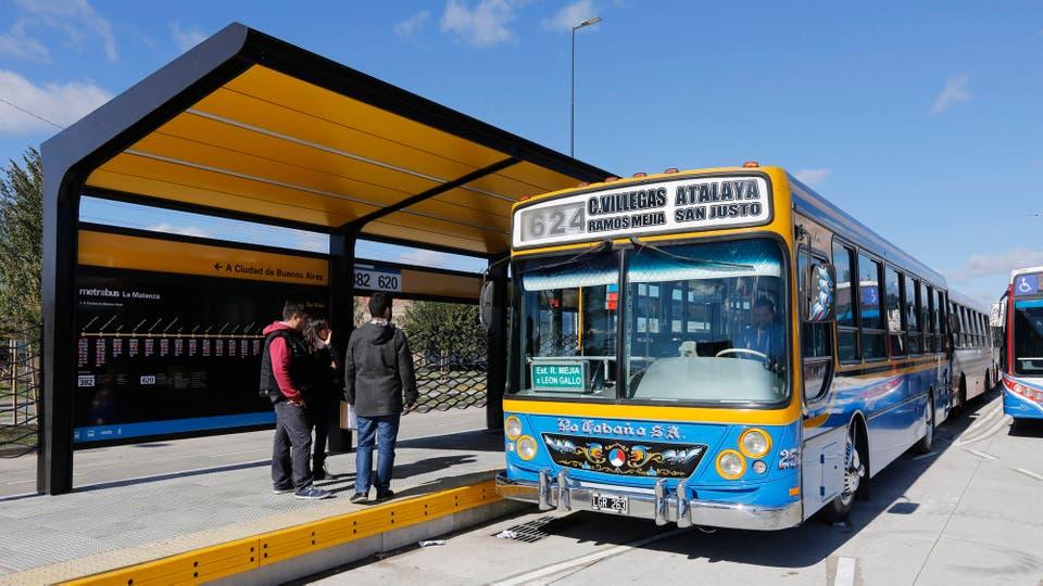 Ésta es la obra de Metrobus más importante que se ha hecho en la Argentina. Foto: LA NACION / Ricardo Pristupluk