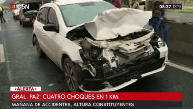 Mañana accidentada: hubo cuatros choques en la General Paz en sólo un kilómetro