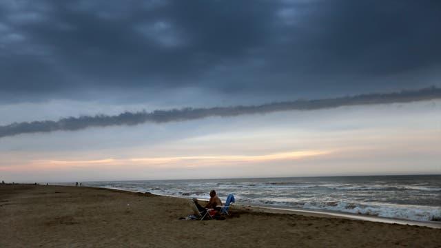 Pinamar amaneció ayer ventoso y frío