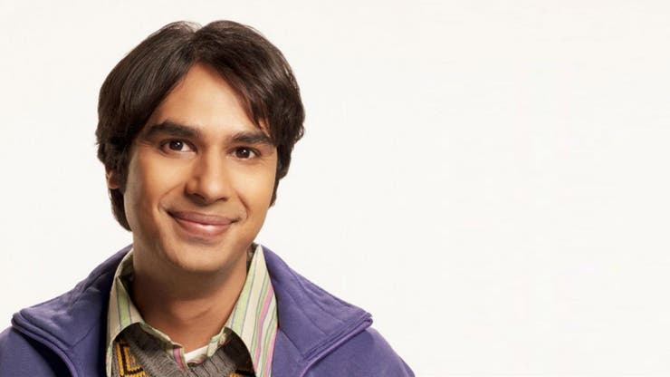 Kunal Nayyar, como Raj de The Big Bang Theory