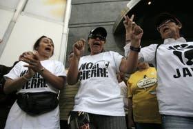 Muestras de apoyo a los trabajadores del canal RCTV
