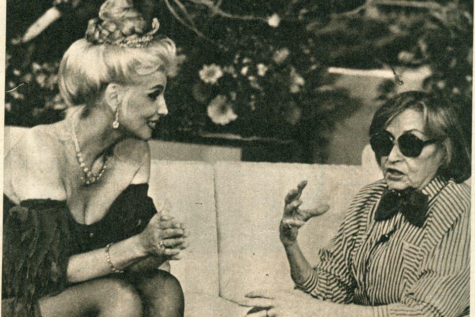 Entrevistando a Tita Merello. Foto:Archivo