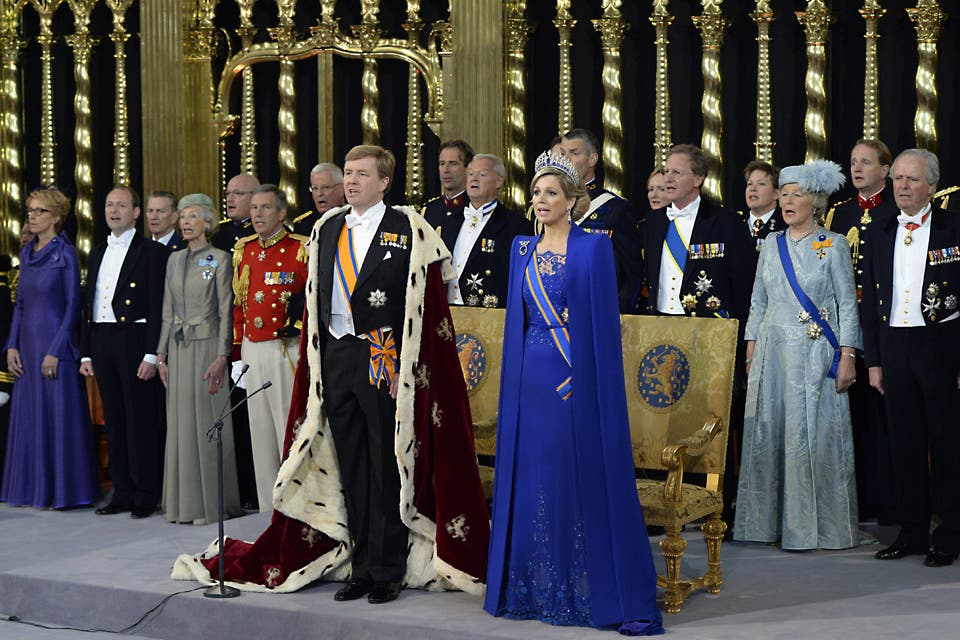 Momento de cantar por Holanda.. Foto: /AP
