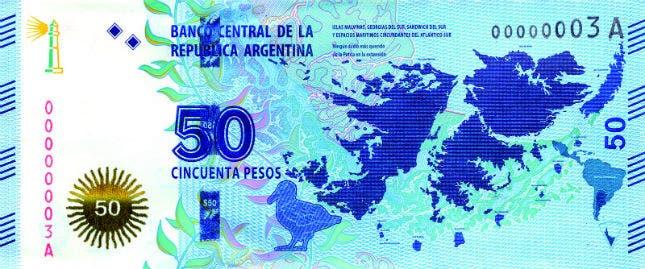 Anverso del nuevo billete de 50 pesos