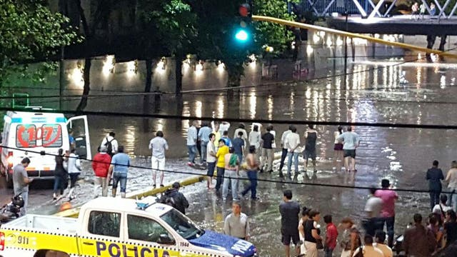 Una postal de la inundación en Tucumán