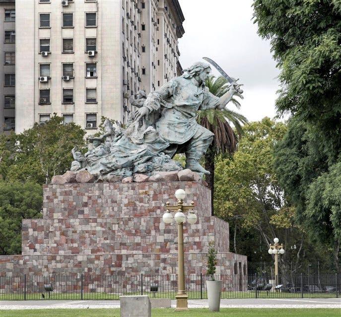 El monumento de Juana Azurduy, una iniciativa de la ex presidenta Cristina Kirchner S. Aznarez