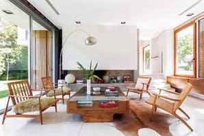 Una casa decorada con materiales nobles y resistentes