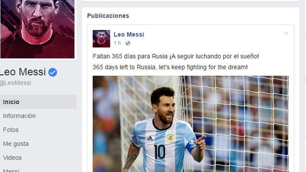 """Messi pidió seguir luchando por el sueño de ir a Rusia 2018"""""""