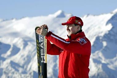 Michael Schumacher esquiando en Madonna di Campiglio. Se accidentó en la Navidad de 2013.