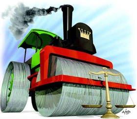 La locomotora del poder político avanza contra la estructura del Poder Judicial en varios distritos del país