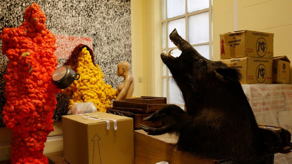 Esculturas de poliuretano realizadas en los últimos años de su vida