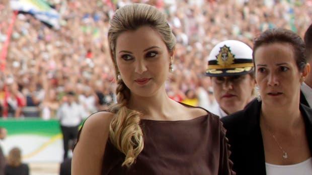 La ex modelo, durante un acto en el Planalto
