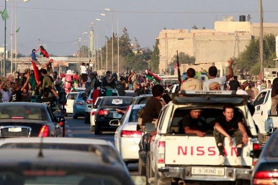 El avance de los rebeldes hacia Trípoli. Foto: Reuters