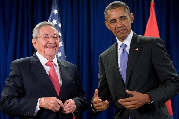 Barack Obama y Raúl Castro en la ONU