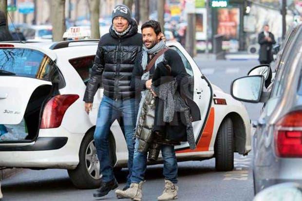 Marcelo y Federico Ribero en las calles parisinas