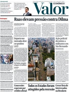 Valor Econômico: La fuerte adhesión de la protesta le dará impulso al proceso de impeachment de Dilma.