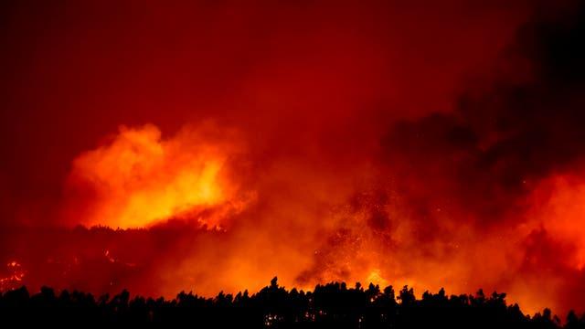 El incendio en Macao, en el centro de Portugal