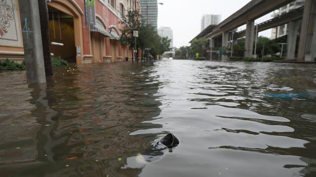 El distrito financiero quedó bajo el agua