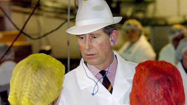 Visitando una fábrica de alimentos en 2004