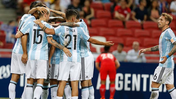 El festejo argentino en Singapur