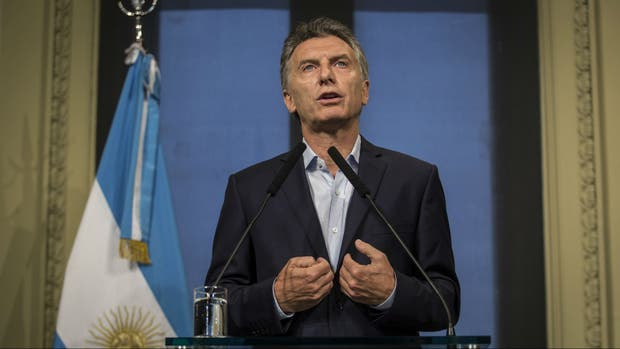 Macri, ayer, en conferencia de prensa en la Casa Rosada