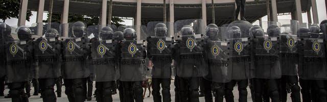 La seguridad por la Copa Confederación