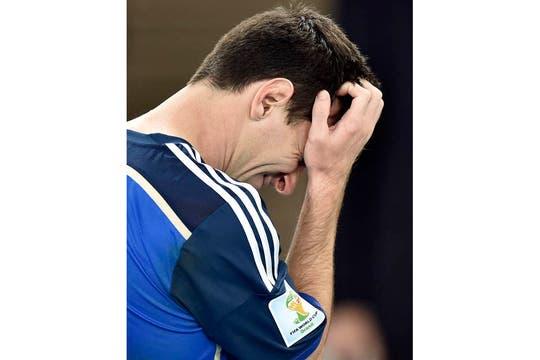 La tristeza de los jugadores. Foto: AP