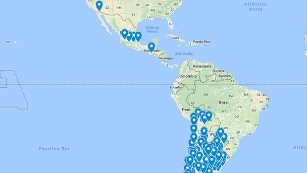 El mapa del paro en América