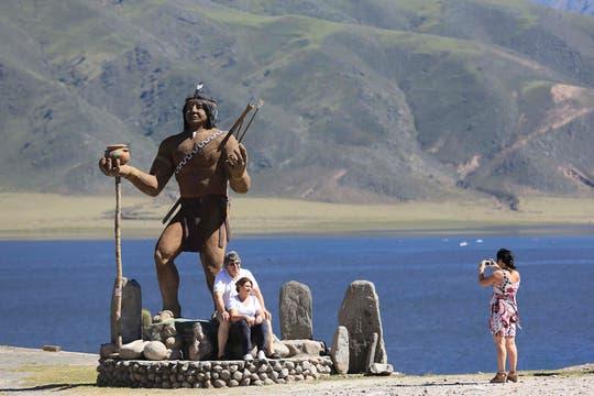 En Tafí del Valle, el turismo religioso fue el protagonista. Foto: LA NACION / Fernando Font