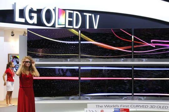 Los televisores OLED 4K De LG. Foto: Reuters