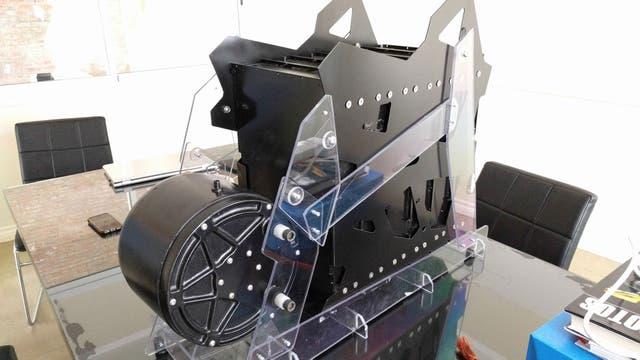 Motor y bateria de la moto eléctrica Voltu