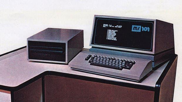 Publicidad gráfica de la MS101 a fines de la década de 1970
