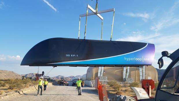 El Hyperloop con el que se hicieron las primeras pruebas en Estados Unidos en julio último
