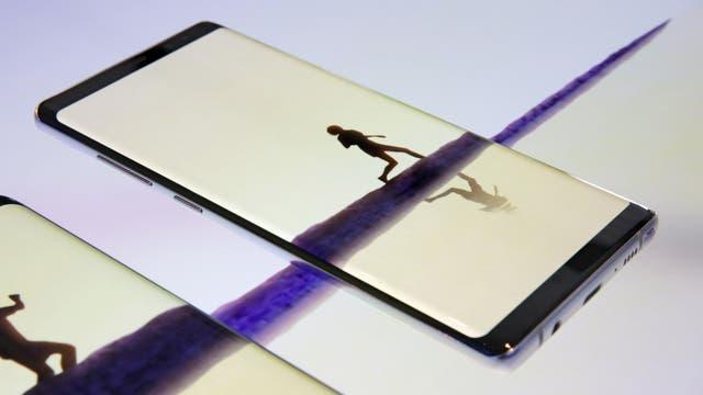 Una vista de la pantalla de 6,3 pulgadas del Galaxy Note 8
