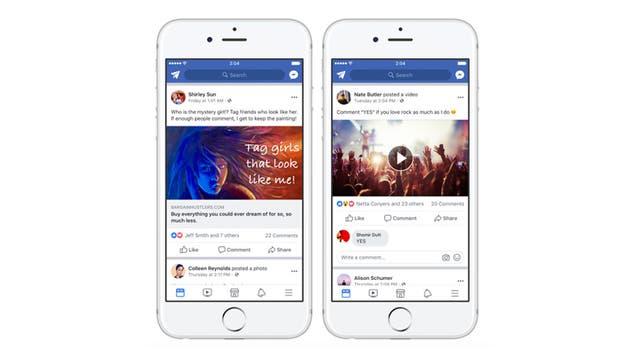El etiquetado de usuarios y la solicitud de comentarios será una práctica no recomendada por la red social