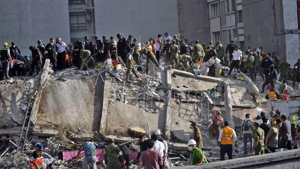 Terremoto en México: un fuerte sismo de 7,1° en la escala Richter estremeció al país y dejó cientos de muertos. Foto: AFP