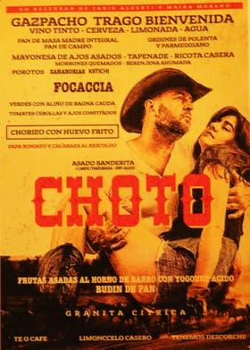 El menú de Choto