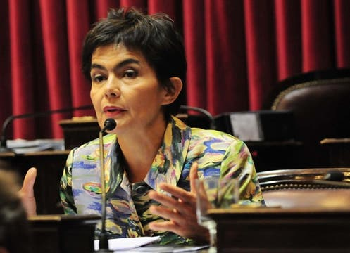 María Julia Estenssoro votó en contra de la ley. Foto: LA NACION