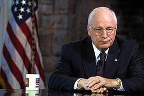 El vicepresidente de los Estados Unidos, Dick Cheney, durante su entrevista para la NBC en Camp David