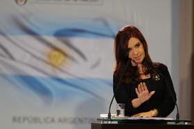 Cristina Kirchner lanzó el plan de viviendas en cadena nacional