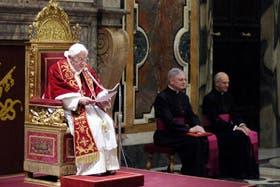 El Papa, esta mañana, al despedirse de los cardenales