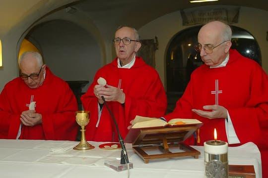 En el Vaticano, en la cripta de la Basilica de San Pedro. Foto: Archivo
