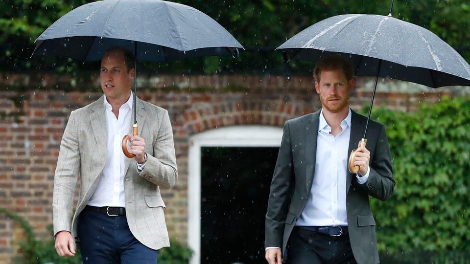 Los príncipes William y Harry están rendiendo homenaje a su madre, la Princesa Diana, en vísperas del 20 aniversario de su muerte visitando el Jardín Sunken para honrar el trabajo de Diana con obras de caridad. Foto: AP / Kirsty Wigglesworth