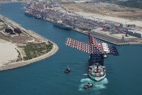 El puerto de Gioia Tauro en Calabria, una región de poderosa influencia de la mafia ''ndrangheta''