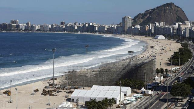 Vista de la playa de Copacabana