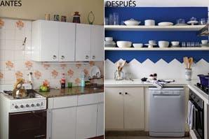 Antes y después: cómo darle un look joven a una cocina