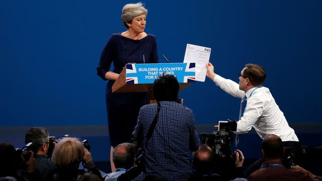 El bochornoso discurso de Theresa May