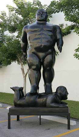 El hombre que camina de Fernando Botero