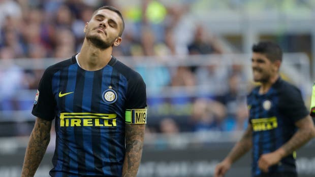 Icardi se lamenta. También Banega, fuera de foco. Inter no pudo de local con Bologna